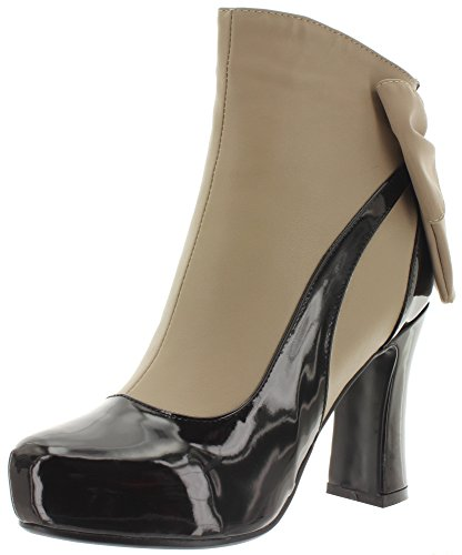Banned Ankle Boots Sadie BND085 Black-Taupe