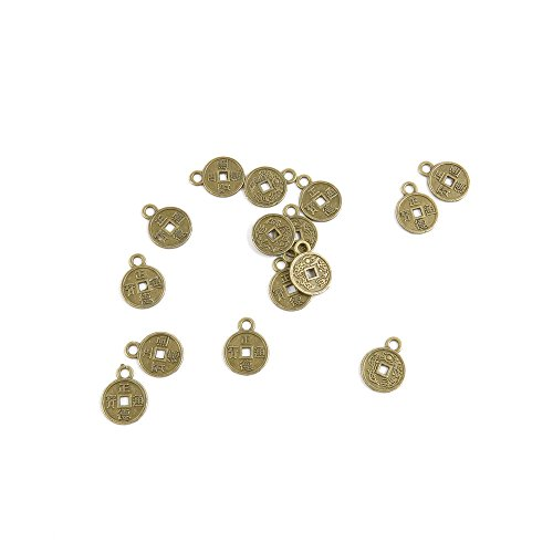 Price per 30 Pieces Fashion Jewelry Making Charms Findings Arts Crafts Beading Antique Bronze Tone E4WY7 Chinese Cash Coins - Chinese Bronze Coin