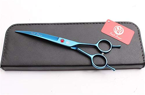 Shoppy Star  8.0  21cm JP 440C Purple Dragon Professional Pet Hairdressing Shears Scissors for Dog Grooming Down Curved Cutting Shears Z4003  Z4003 LAN DC 8Y