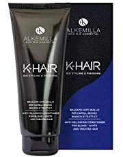 ALKEMILLA - Anti Yellow Conditioner - Ideal for Blond, White and Treated Hair - Against Hair Yellowing - Certified LAV, QC, Vegan Quality - Nickel Tested - 200 ml