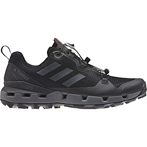 adidas outdoor Terrex Fast GTX-Surround Mens Hiking Boots, Black/Grey Five/Hi-Res Red, -