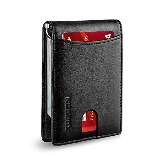 Minimalist Slim Bifold Front Pocket Wallet for Mens with RFID Blocking