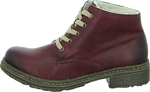 Rieker 54240-24 Damen Kurzschaft Stiefel Rot