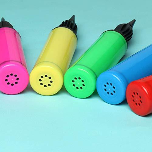 AIRERA 5 Pezzi Pompa a Palloncino a Doppia Azione, Pompa Ad Aria Portatile A Due Vie per Gonfiatore Portatile per Gonfiabili, Pompa a Mano per Palloncino (5 Colori)