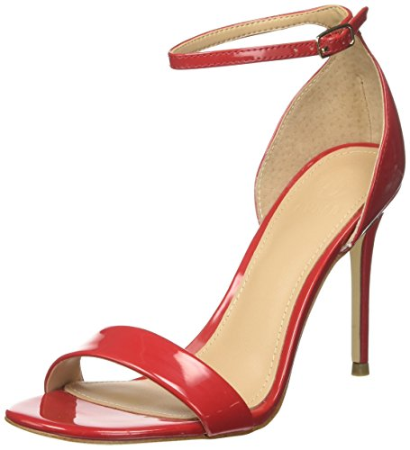 Dress Red Bride Femme Footwear Rosso Guess Medium Cheville Escarpins Sandal Rnq455wpx1