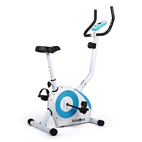 🥇 Klarfit MOBI-FX-250 Bicicleta estática Fija – para Cardio con computador LCD de Entrenamiento – Pulsómetro – Estable – Máx. 100 kg