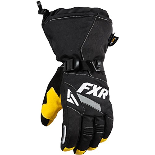 FXR-Snow CX Adult Nylon/Leather Womens Gloves, Black/White, Small/SM