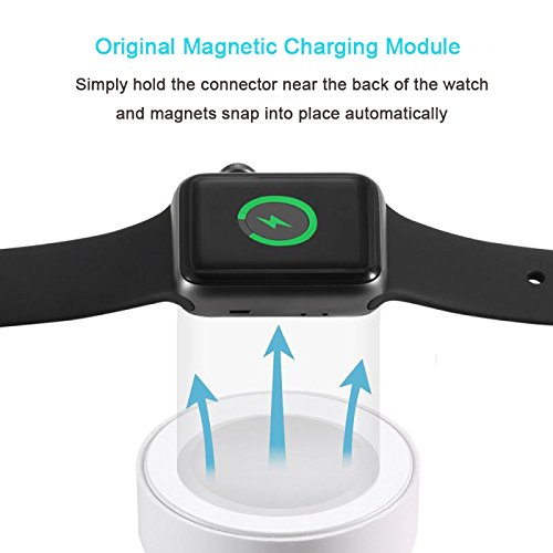 MEFEO Apple Watch Charger, iWatch Charger Charging Cable 6.6FT, Magnetic Wireless Charger Charging Cable Cord for Apple Watch 3/2 38mm 42mm [MFi Certified] (6.6ft/2.0m) by MEFEO (Image #2)