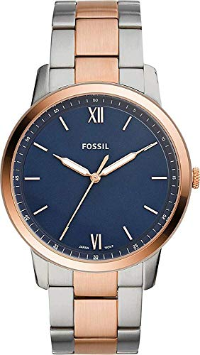 Fossil Men's The Minimalist 3H - FS5498 Rose Gold/Silver One Size (Men Watch Rose Gold Fossil)