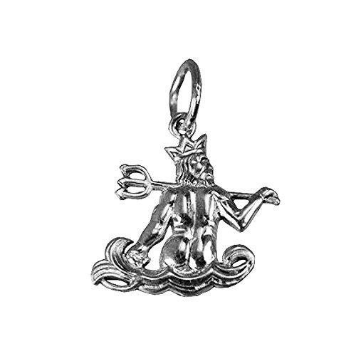 King Sterling New Silver - Real Sterling silver 925 New King of Atlantis Triton Poseidon Mermaid Sterlin