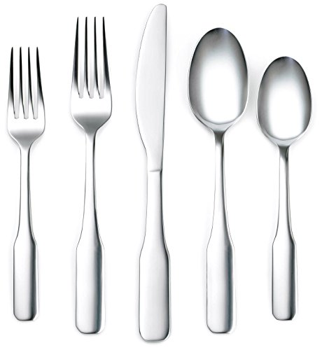 Corelle Coordinates Noah Mirror 20-Piece Flatware Silverware Set, Stainless Steel, Service for 4, Includes Forks/Spoons/Knives