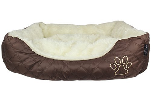 Parisian Pet Oxford Quilted Pet Bed, Brown