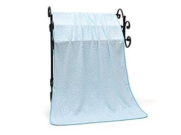 YIIO Diseño Unico Toalla de baño para bebé y Manta de bebé Que abollona en Relieve de absorción rápida Toalla Grande_Sky-Azul: Amazon.es: Hogar