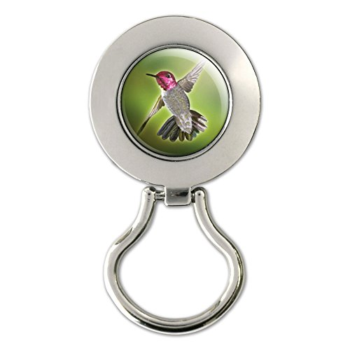 Anna's Hummingbird - Bird Magnetic Metal Eyeglass Badge Holder
