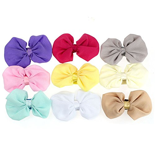 Lookatool 9PCS Babys Girls Chiffon Flower Elastic Headband Photography Headbands