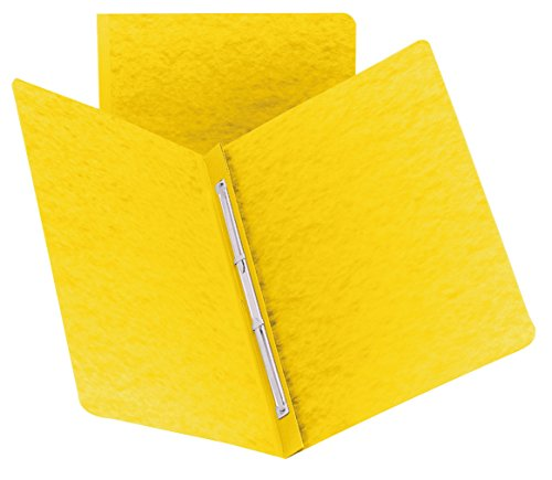 Smead PressGuard Report Cover, Metal Prong Side Fastener with Compressor, 3 Capacity, Letter Size, Yellow  (81852)