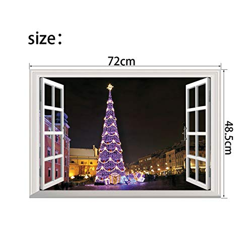 (2019 Est Christmas 3D Wall Stickers Window View Santa Claus Home Decor Christmas Tree Home Decoration Accessories 11 Kinds,7)