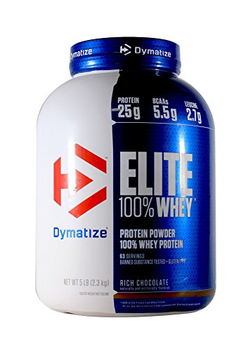 Dymatize Nutrition Elite Whey Protein Powder, Rich Chocolate, 5 Pound (Protein Whey Elite Powder Dymatize)