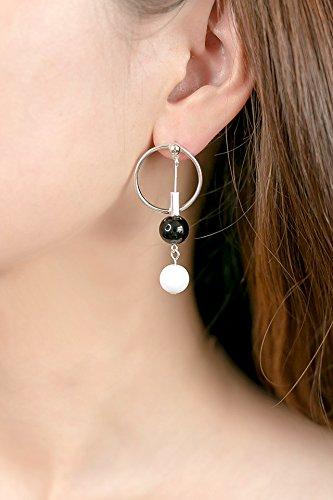 Generic Korean women girls lady fashion circles in Europe and America earrings opal earrings temperament simple Beautiful tassel earrings ear jewelry women girls lady