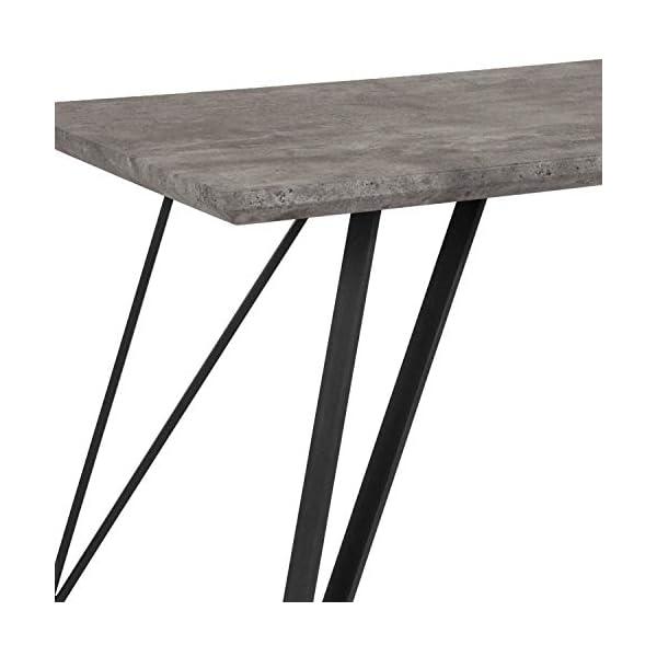 "Taylor + Logan Rectangular Dining Table, 31.5"" x 63"", Faux Concrete Finish"