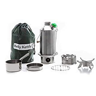 Base Camp 54 oz. Anodized Aluminum Kelly Kettle Basic Kit (1.6 ltr) Rocket Stove Boils water Ultra Fast with just sticks/twigs. For Camping, Fishing, Scouts, Hunting, Emergencies, Hurricanes, Tornados (B004GLB6SE) | Amazon price tracker / tracking, Amazon price history charts, Amazon price watches, Amazon price drop alerts