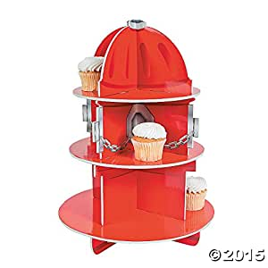 Fun Express Fire Hydrant Cupcake Holder, 15 1/2 x 11-Inches
