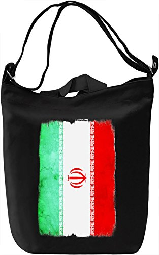 Iran Flag Borsa Giornaliera Canvas Canvas Day Bag| 100% Premium Cotton Canvas| DTG Printing|