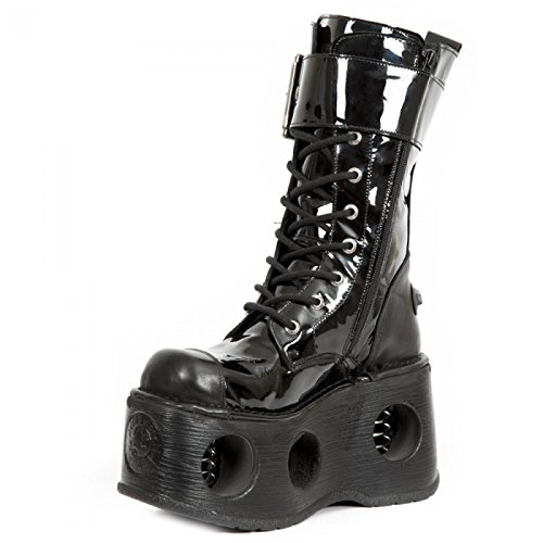 New Rock Støvler M.312-s5 Gotisk Hardrock Punk Unisex Stiefel Sort jTWUaOaDy