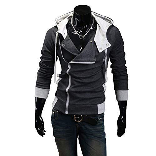 2019 Casual Cardigan Men Hoodie Sweatshirt Long Sleeved Slim Fit Male Zipper Hoodies Assassins Creed Jacket Plus Size -