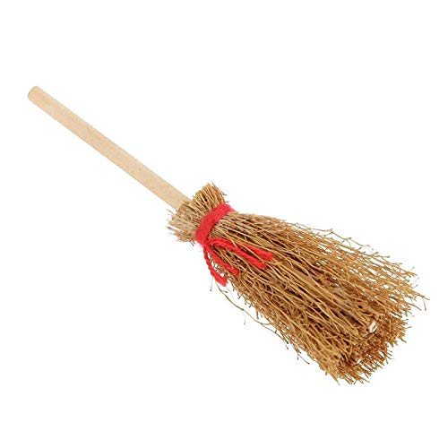 1:12 Scale Wooden Cleaning Broom Doll House Miniature Fairy Garden Accessory NEW