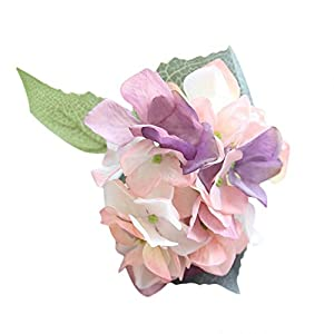 MaxFox Artificial Flowers Hydrangea, Real Touch A Bunch Silk Fake Floral for Wedding Bridal Holding Bouquet Decor (H) 29