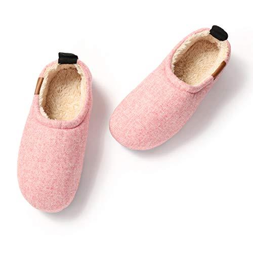Zapatillas Antideslizantes Algodón Bolsa Slippers Zapatilla Grueso Fenping Casa Pantuflas Interior De Con Suave Fondo Pink Invierno 1xCrqYCw5