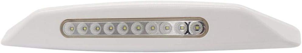 D DOLITY 12V Waterproof Awning Lights, RV LED Porch Lights/Exterior LED Lights/Utility Lights 10 LED for Truck Trailer Camper RV, White Shell