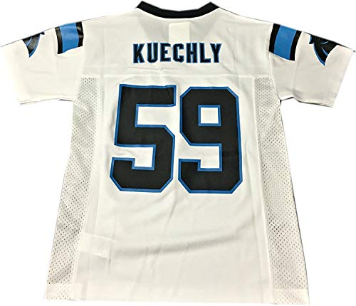Luke Kuechly Carolina Panthers #59 White NFL Youth Away Mid Tier Jersey (Large 14/16)