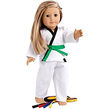 """Amazon.com: Fits 18"""" American Girl Doll Karate Outfit - 18"""