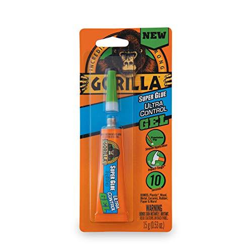Gorilla Ultra Control Super Glue Gel, 15 g, Clear