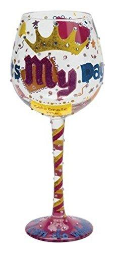 Cheap Santa Barbara Design Studio It's My Day Lolita Super Bling Wine Glass, Multicolor