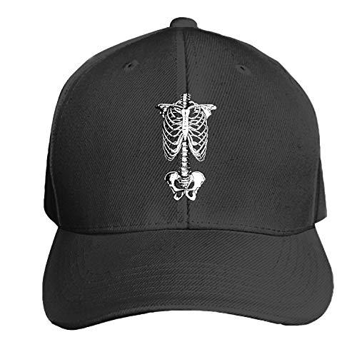 Skeleton Anatomy Halloween Men's Structured Twill Cap Adjustable Peaked Sandwich Hat -