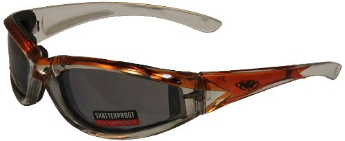 Global Vision Flashpoint Glasses with Vacuum Chrome Finish (Orange Frame/Flash Mirror Lens)