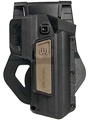 ReCover Tactical HC11 1911 Holster for the CC3H Grip & Rail System (Tan Button Active Retention, Right)
