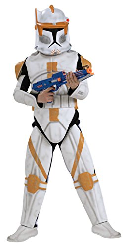 Deluxe Clonetrooper Costumes (Boys Clonetrooper Cody Deluxe Kids Child Fancy Dress Party Halloween Costume, S (4-6))