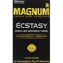 Trojan Condom Magnum Ecstasy Ultrasmooth Lubricated 10Pc