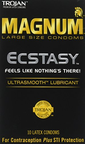 (Trojan Condom Magnum Ecstasy Ultrasmooth Lubricated 10Pc - 2 Packs)