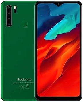 Blackview A80 Pro Teléfono Móvil Libres 4G, Pantalla HD + de 6.49'', Helio P25 4GB + 64GB, Cuatro Cámaras Traseras, Batería 4680mAh, Grosor de 8.8 mm, Smartphone Android 9.0 Dual SIM, GPS Verde