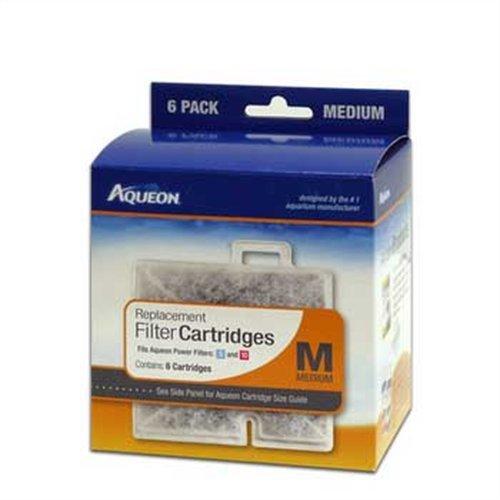 Aqueon QuietFlow Filter Cartridge, Medium, 6-Pack (Tank Aquarium Filters)