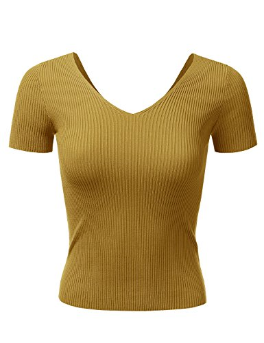 Doublju Sleeve Fitted Stretchy Ribbed product image