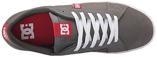 DC Men's Astor Skate Shoe, Black Black Black, D(M) US Grey/Red/White