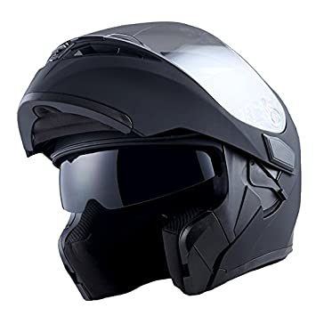 Modular Full Face Motorcycle Helmet Street Bike Flip-Up Visor DOT,XXL Protective Gear Motorcycle & ATV
