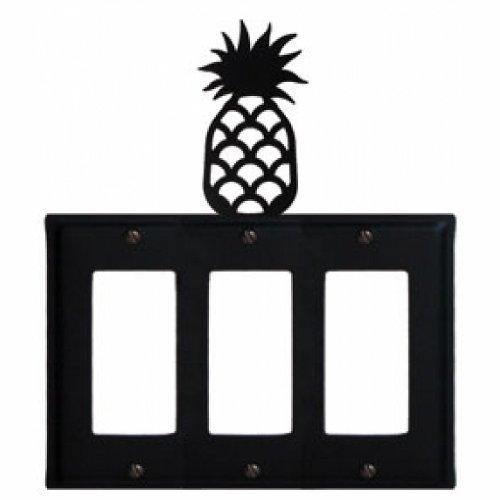Pineapple - Triple GFI Cover (Pineapple Gfi Cover)