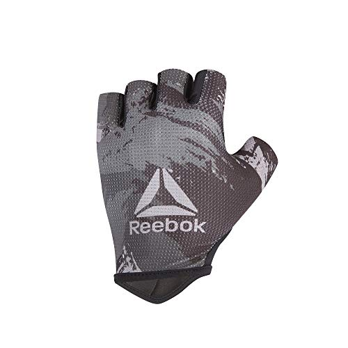 Reebok Men's Weight Lifting Workout Gloves High Performance with Natural Suede Grip, Camo, Size Small